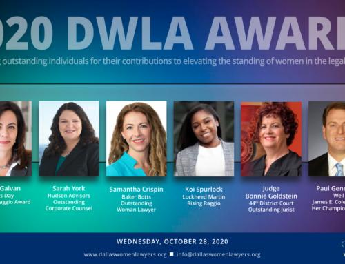 DWLA Announces 2020 Award Recipients