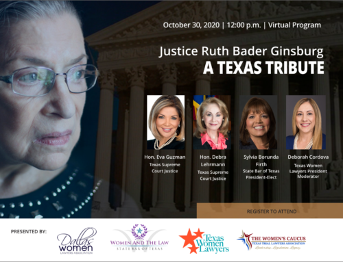 A Texas Tribute to Justice Ruth Bader Ginsburg