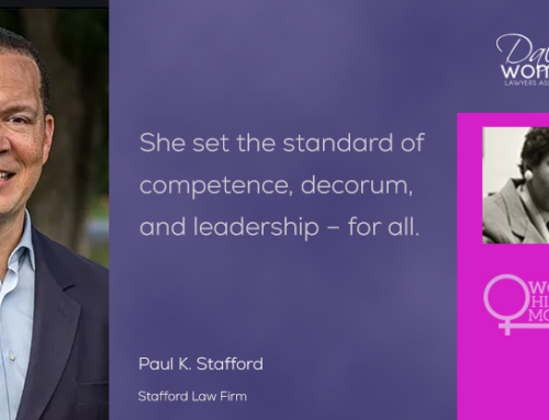 2021 Womens History Month-Paul Stafford